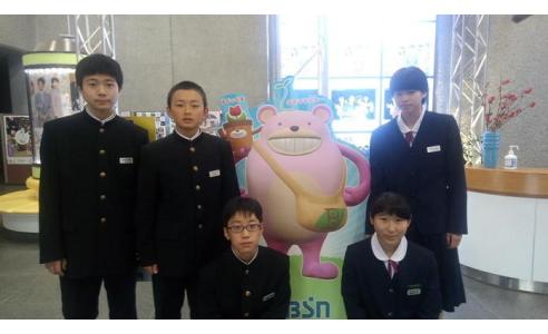 BSN社内見学 新潟市立新津第二中学校
