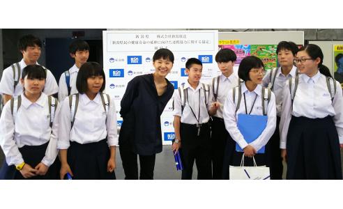 BSN社内見学&インタビュー 新潟市立木戸中学校
