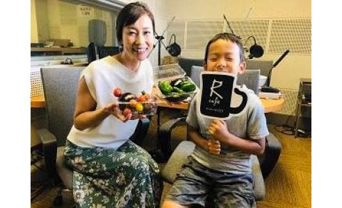 親子でラジオ出演!(BSNラジオ「大杉りさのRcafe」)