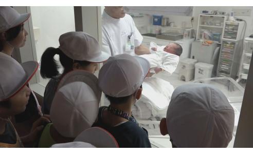 赤ちゃんが先生?(BSNテレビ「NEWSゆうなび」)