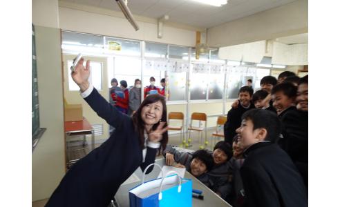出張授業~長岡市立大島中学校
