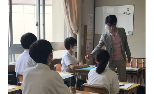 【出前授業】長岡市立旭岡中学校